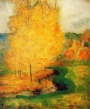 Paul Gauguin : By the Stream, Autumn