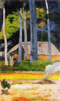 Paul Gauguin : Cabin under the Trees