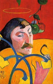 Paul Gauguin : Caricature, Self Portrait