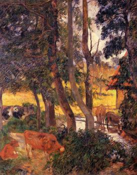Paul Gauguin : Cattle Drinking II