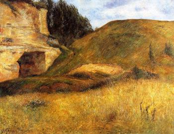 Paul Gauguin : Chou Quarry, Hole in the Cliff