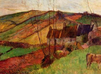 Paul Gauguin : Cottages on Mount Sainte-Marguerite