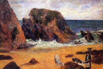 Paul Gauguin : Cows by the Sea
