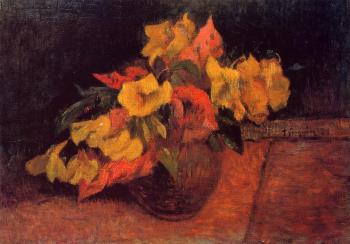 Paul Gauguin : Evening Primroses in a Vase
