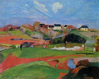 Paul Gauguin : Fields at le Pouldu