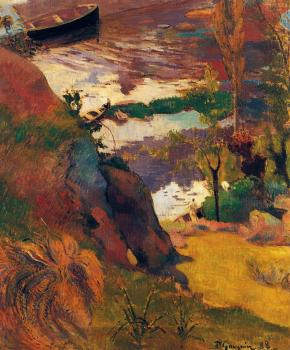 Paul Gauguin : Fishermen and Bathers on the Aven
