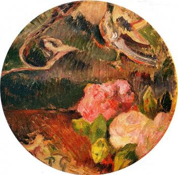 Paul Gauguin : Flowers and a Bird