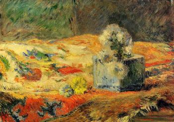 Paul Gauguin : Flowers and Carpet
