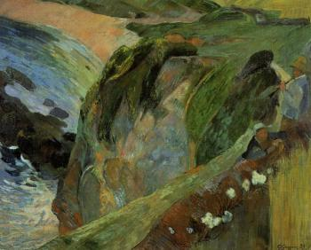 Paul Gauguin : Flutist on the Cliffs