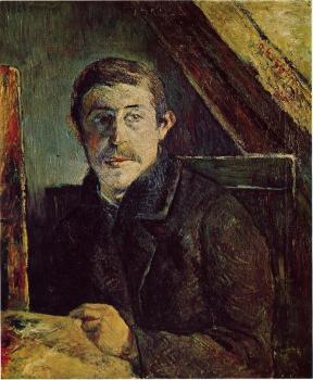 Paul Gauguin : Gauguin at His Easel