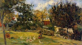 Paul Gauguin : Geese in the Meadow