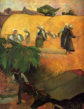 Paul Gauguin : Haymaking in Brittany