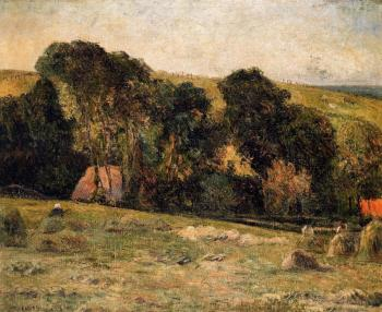 Paul Gauguin : Haymaking near Dieppe