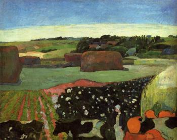Paul Gauguin : Haystacks in Britanny