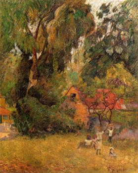 Paul Gauguin : Huts under the Trees