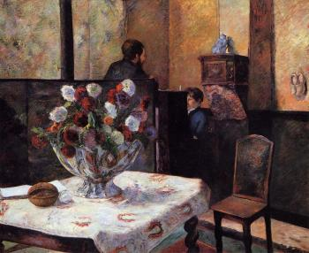 Paul Gauguin : Interior of the Painter's House, rue Carcel