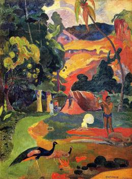 Paul Gauguin : Landscape with Peacocks