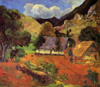 Paul Gauguin : Landscape with Three Figures