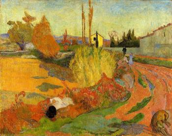 Paul Gauguin : Landscape, Farmhouse in Arles