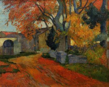 Paul Gauguin : Lane at Alchamps, Arles