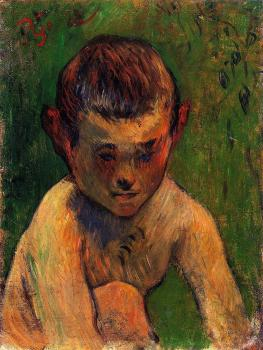 Paul Gauguin : Little Breton Bather