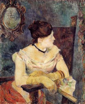 Paul Gauguin : Madame Mette Gauguin in an Evening Dress
