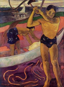 Paul Gauguin : Man with an Ax