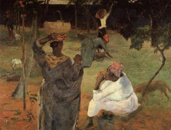 Paul Gauguin : Mango Pickers, Martinique
