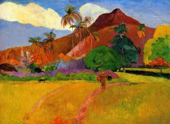 Paul Gauguin : Mountains in Tahiti