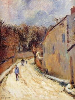 Paul Gauguin : Osny, rue de Pontoise, Winter