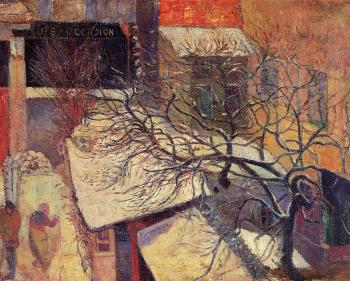 Paul Gauguin : Paris in the Snow