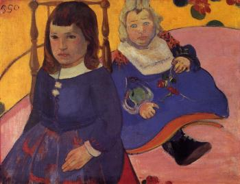 Paul Gauguin : Paul and Jean Schuffenecker