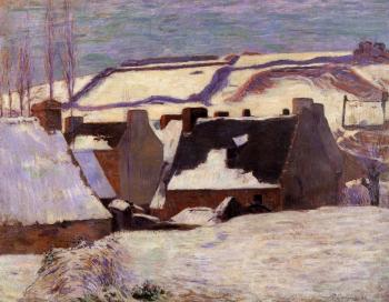 Paul Gauguin : Pont-Aven in the Snow