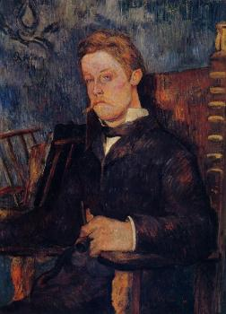 Paul Gauguin : Portrait of a Seated Man