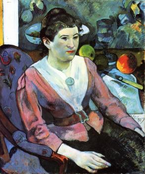 Paul Gauguin : Portrait of a Woman with Cezanne Still Life