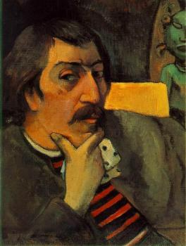 Paul Gauguin : Portrait of the Artist with the Idol