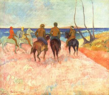 Paul Gauguin : Riders on the Beach