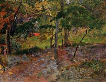 Paul Gauguin : River under the Trees, Martinique