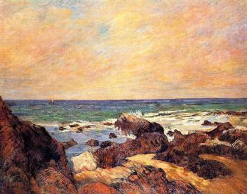 Paul Gauguin : Rocks and Sea