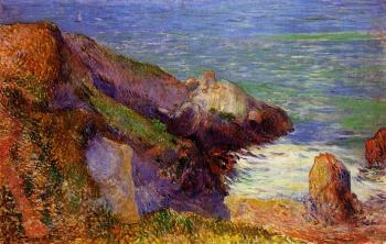 Paul Gauguin : Rocks on the Breton Coast