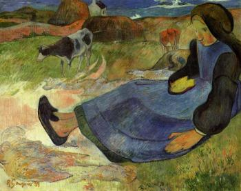 Paul Gauguin : Seated Breton Girl