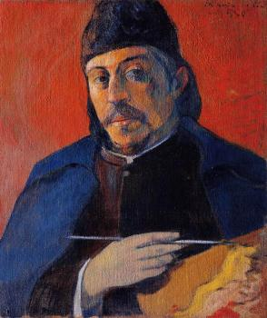 Paul Gauguin : Self Portrait with Palette