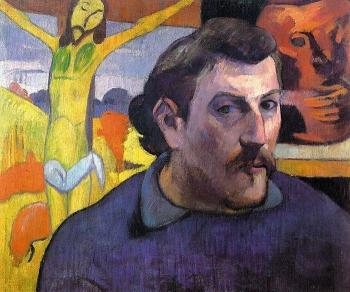 Paul Gauguin : Self Portrait with 'Yellow Christ'