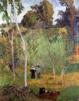 Paul Gauguin : Shepherd and Shepherdess in a Meadow