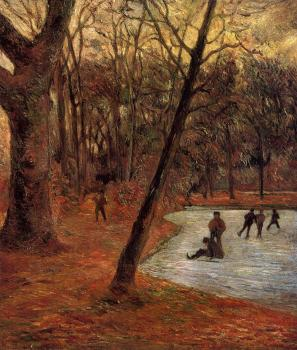 Paul Gauguin : Skaters in Fredericksberg Park