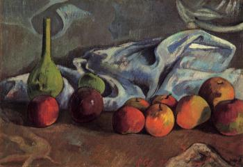 Paul Gauguin : Still Life with Apples and Green Vase