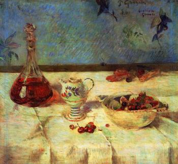 Paul Gauguin : Still Life with Cherries