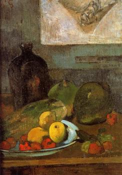 Paul Gauguin : Still Life with Delacroix Drawing