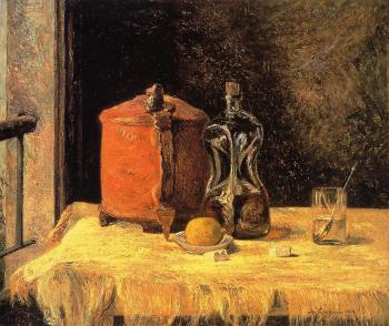 Paul Gauguin : Still Life with Mig and Carafe