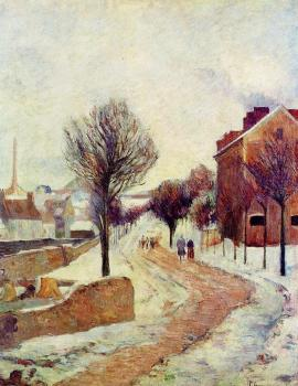 Paul Gauguin : Suburb under Snow